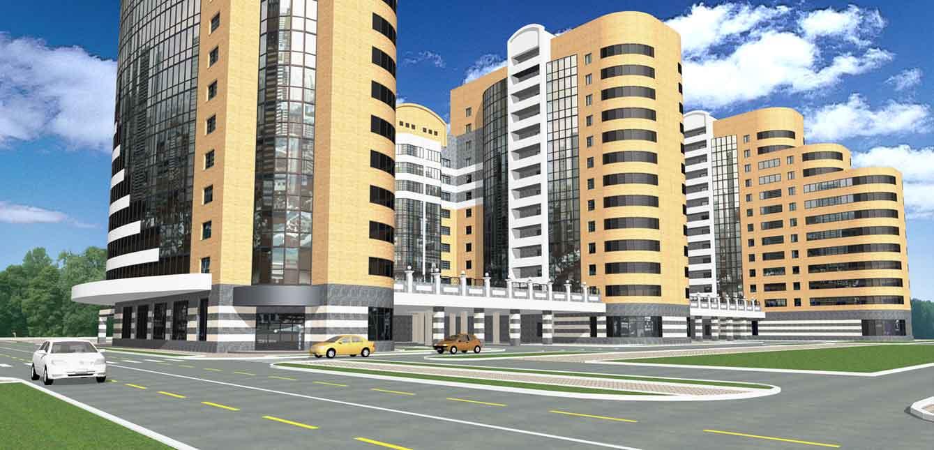 Комплекс многоэтажных жилыхе домов